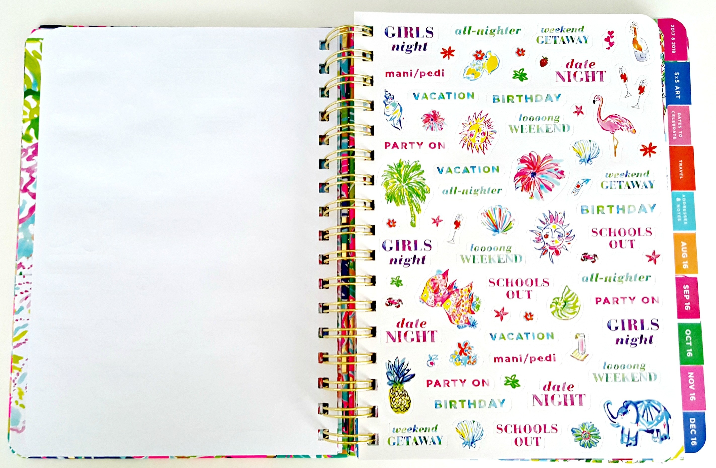 Lilly Pulitzer Agenda 2016-2017 Review - pertaining to Lilly Pulitzer Planner Stickers 30409