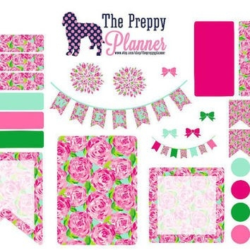 Lilly Pulitzer Inspired Weekly Set Up From Thepreppyplanner On within Lilly Pulitzer Planner Stickers 30409