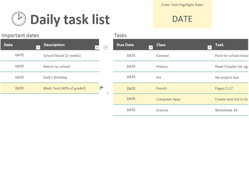Lists - Office for Office To Do List Template Excel 25373