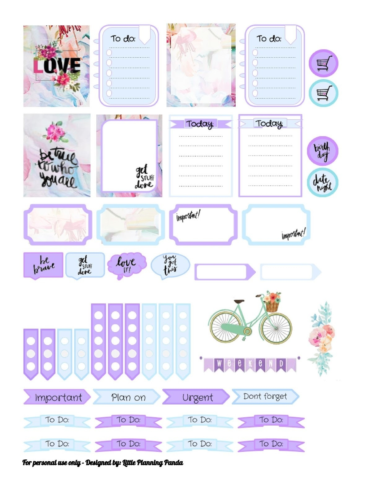 Little Planing Panda: Ted Baker Hanging Garden Inspired Vertical for Planner Stickers Template 28441