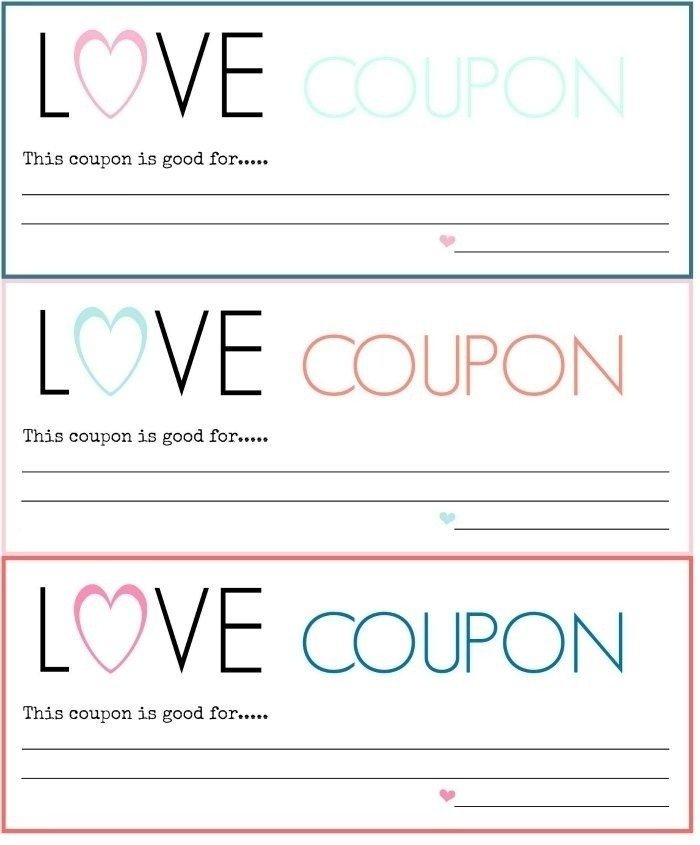 Love Coupon Template Download Free  Examples And Forms