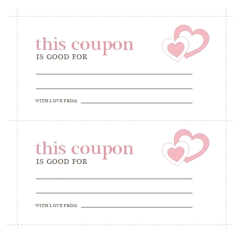 Love Coupon Template Microsoft Word | Journalingsage within Love