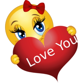 Love Smiley With A Heart | Smiley, Smileys And Emojis for Facebook Emoticon Stickers Heart 30492