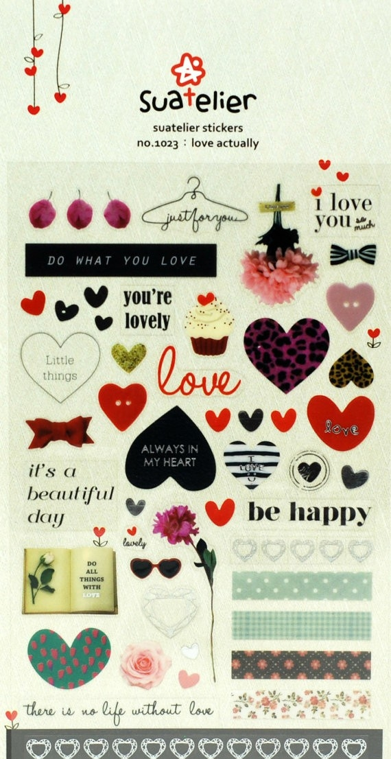 Love Stickers Scrapbooking Stickers-Planner Stickers-Erin with Love Stickers For Scrapbooking 25883