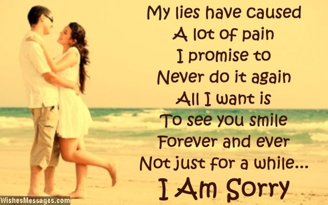 Love Text Messages - Quotes, Poems And Sms: 15 I Am Sorry Quotes regarding I Am Sorry Quotes For Boyfriend 28491