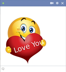 Love You | Smiley And Smileys intended for Cute Stickers For Facebook Chat 27360
