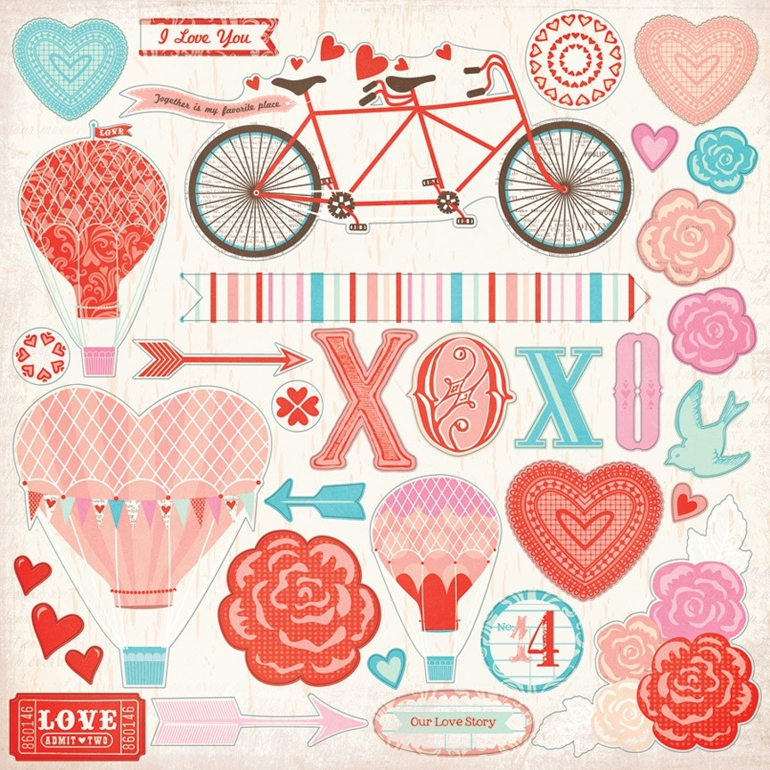 Lucky In Love Stickers regarding Love Stickers For Scrapbooking 25883