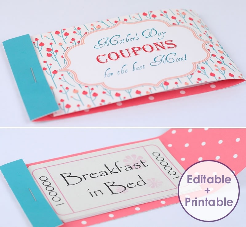 Make A Stunning Mothers Day Coupon Booklet For Your Mom | Tlg pertaining to Homemade Coupon Design 30338