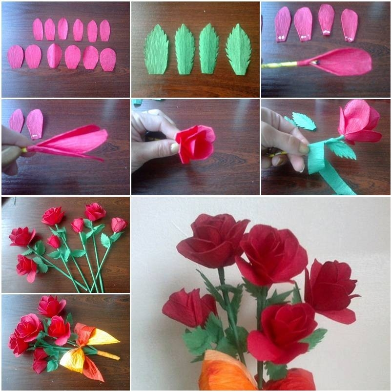 Make Crepe Paper Roses Step Diy Tutorial Instructions - Coriver with How To Make Paper Roses Step By Step With Pictures 29076