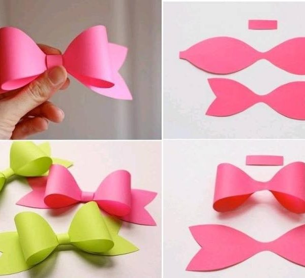 Make Paper Craft Bow Tie Step Diy Tutorial Instructions Coriver