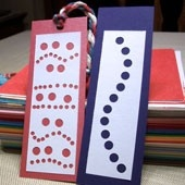 Make Recycled Artwork Bookmarks - Friday Fun Craft Projects - Aunt for How To Make Bookmarks For Books 27953