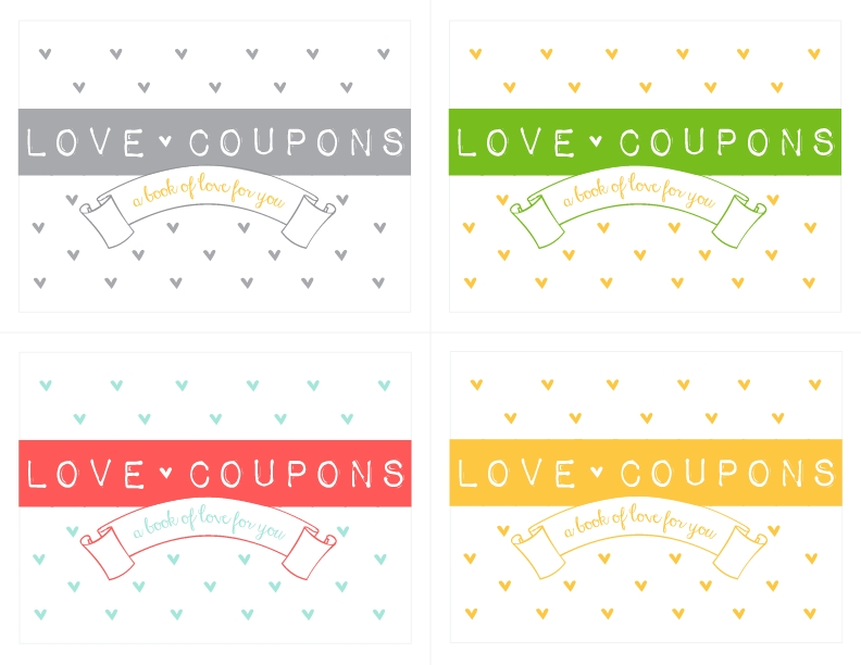 Make Your Own Love Coupon Notepad! {Free Download} - Kiki & Company with Love Coupons Cover 30278