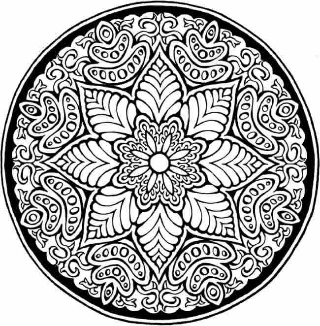 Mandala Coloring Page Difficult Mandala Coloring Pages Flower intended for Detailed Mandala Coloring Pages For Adults 29491