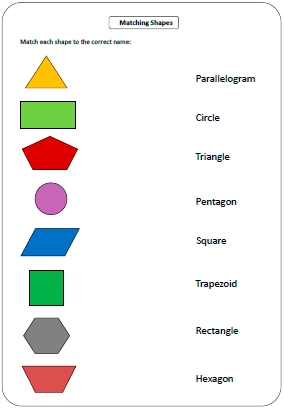 Maths Shapes With Names. Worksheets. Tataiza Free Printable within Shapes Names For Kids 25683