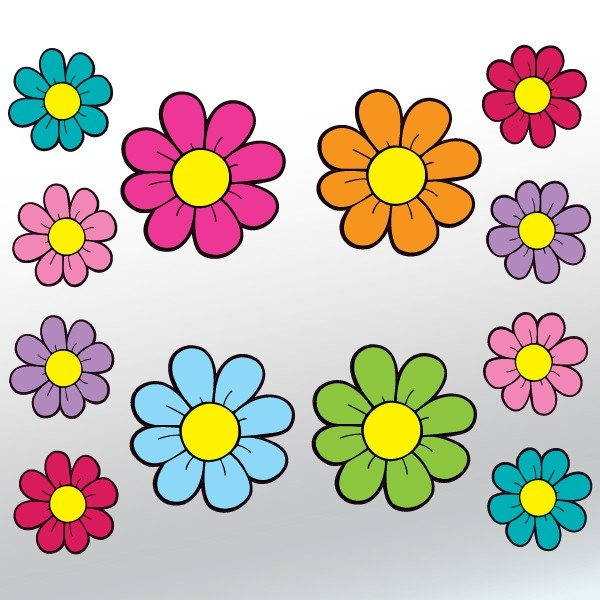 Mini Daisy Flower Stickers - 12 Piece Set inside Daisy Flower Stickers 28289