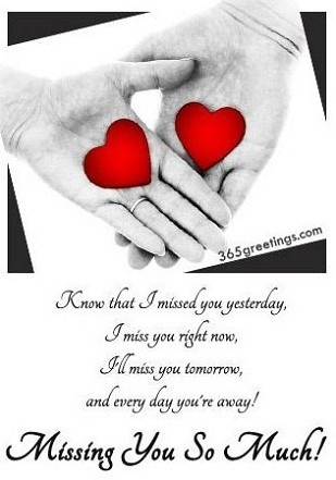 Miss You Greeting Cards For Boyfriend Missing You Messages For inside I Miss U Cards For Love 30148