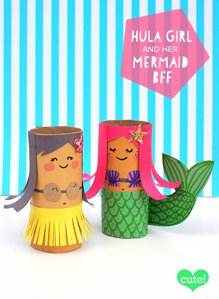 Mollymoocrafts Toilet Roll Crafts: Hula Girl And Mermaid with regard to Tissue Paper Roll Crafts 27523