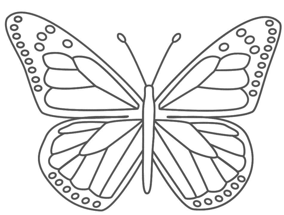 Monarch Butterfly Template Printable | World Of Printable And Chart for Monarch Butterfly Template 29350