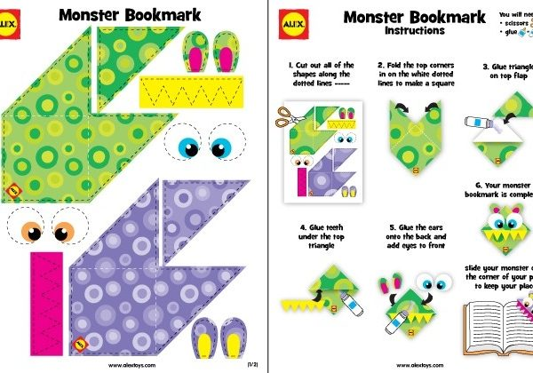 Monster Bookmark Printable - Alexbrands within Bookmarks To Make And Print