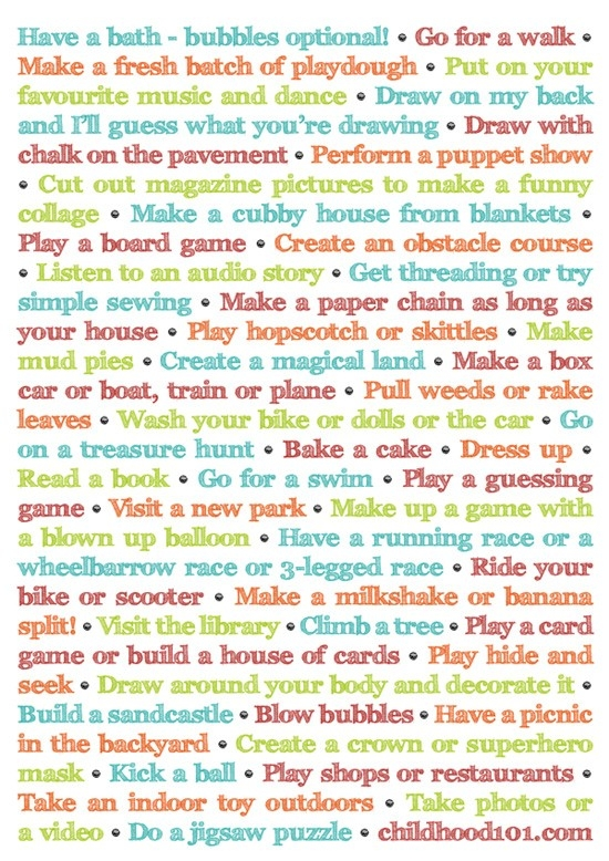 More Things To Do Instead Of Turning On The Tv (And It's Printable!) with Fun Things To Do List 26252