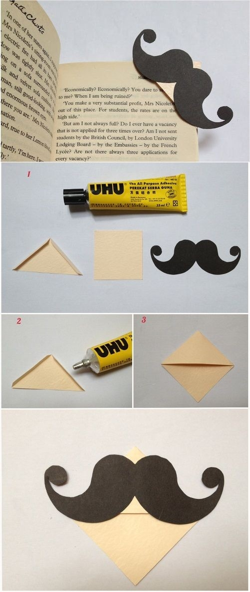 Mostacho <3 | Do It Yourself | Pinterest | Bookmarks, Origami with regard to Diy Bookmarks Tutorial 29672