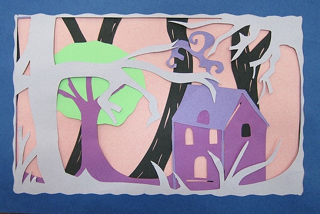 Mr. Bob's Middle & High School Art Room: Construction Paper Layers inside Cut Construction Paper Art 27450