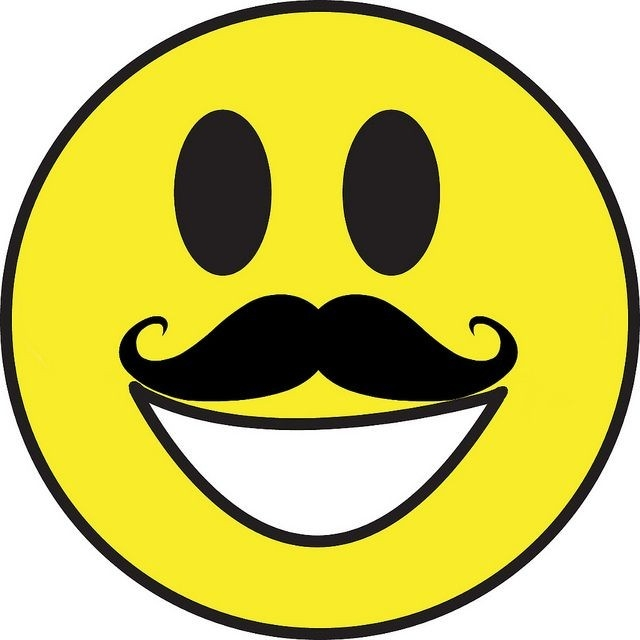 Mustache Smiley | Smiley, Smiley Symbols And Smileys in Cool Smiley Faces With Mustaches 30584