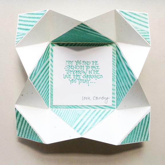 Napkin Fold Card With Instructions | Lettering Arts | Pinterest with regard to Creative Paper Folding Techniques 28636