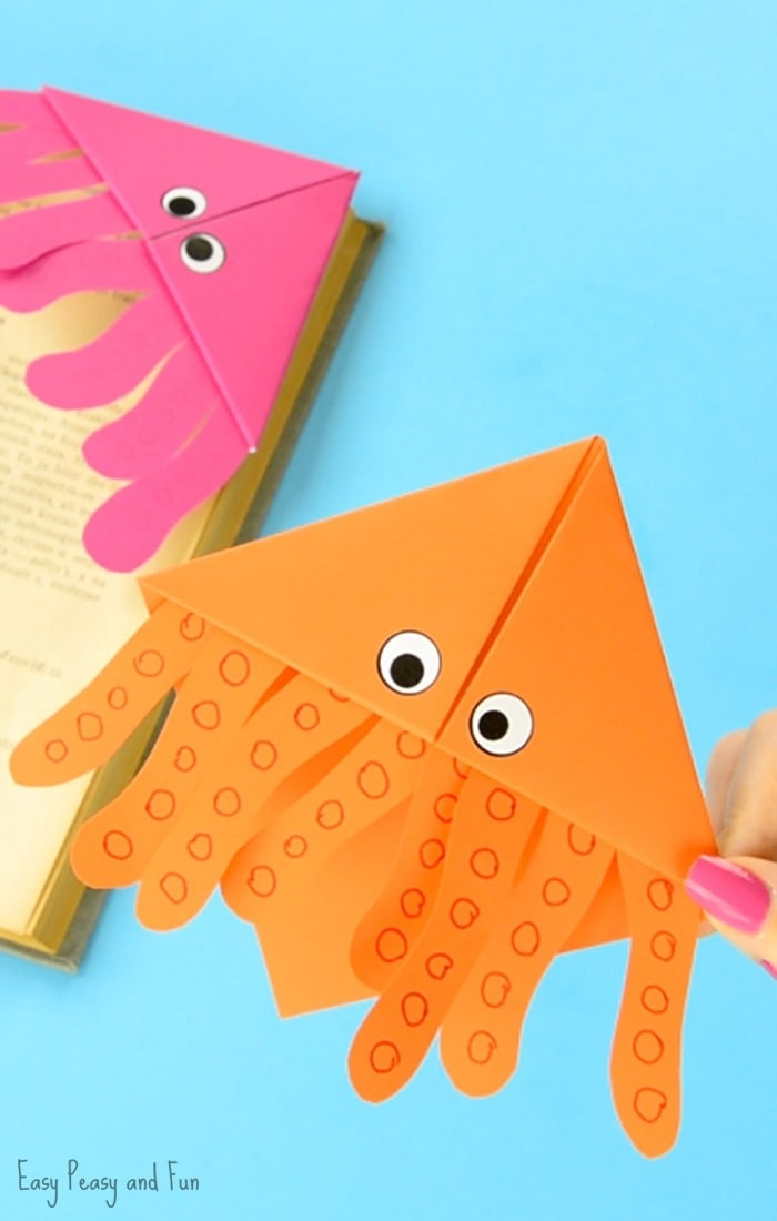 Octopus Corner Bookmarks - Easy Peasy And Fun in How To Make Corner Bookmarks With Paper 29542