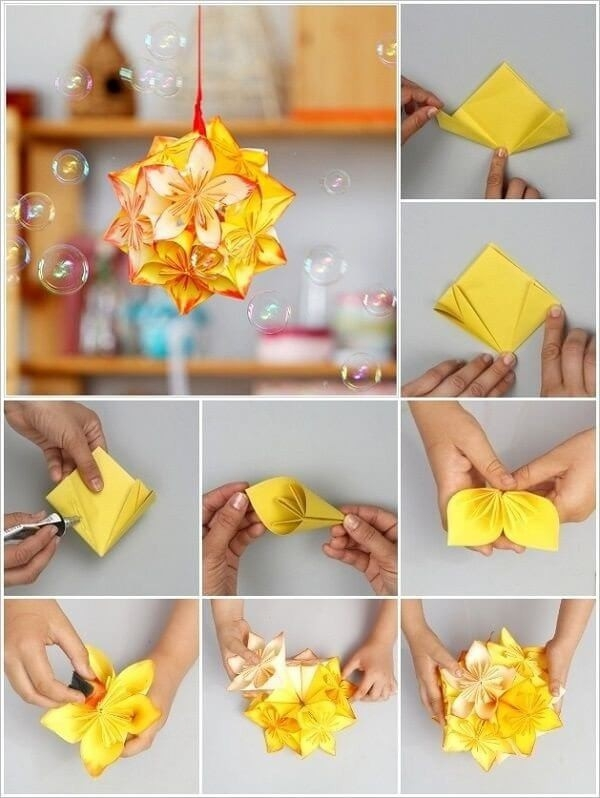 Origami-Flower-Step-By-Step-Turorial-5 | Origami | Pinterest intended for How To Make Paper Craft Flowers Step By Step 28911