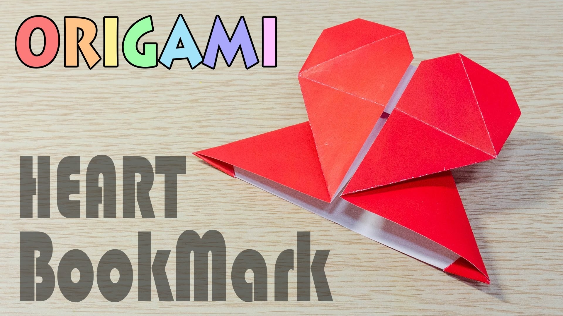 Origami Heart Bookmark Make Pape Corner Folding Tutorial - Dma within How To Make Heart Bookmarks Step By Step 27868