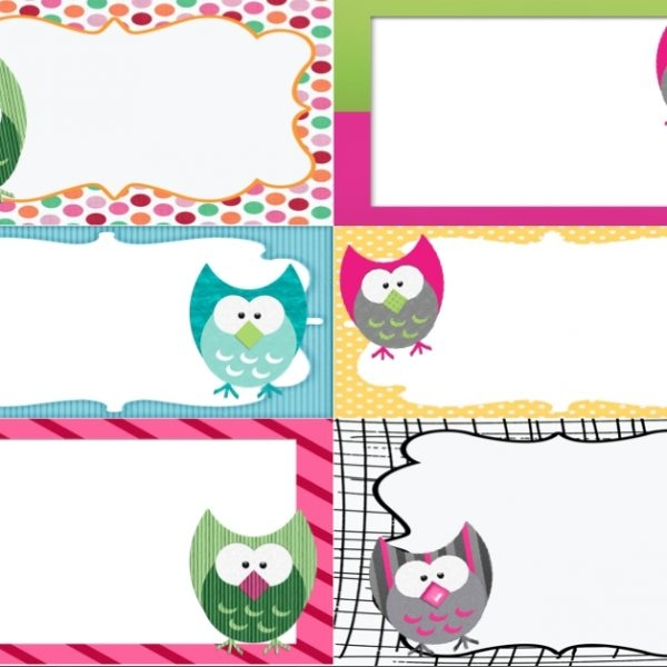 Owl Labels: Printable | Owl Labels, Owl And Label Tag Pertaining regarding Blank Labels For Kids 29381