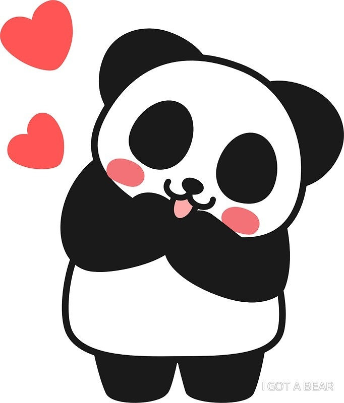 "Panda Cute Cute Sticker"" Stickers By I Got A Bear 