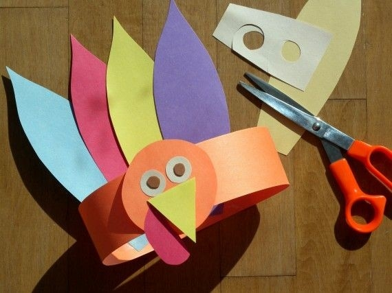 Paper Crafts For Kids: Gobble, Gobble Turkey Hat For Thanksgiving inside Handmade Paper Crafts For Kids 26895