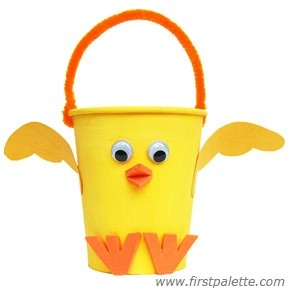 Paper Cup Chick Basket Craft | Kids' Crafts | Firstpalette pertaining to Crafts For Kids With Paper Cups 27069