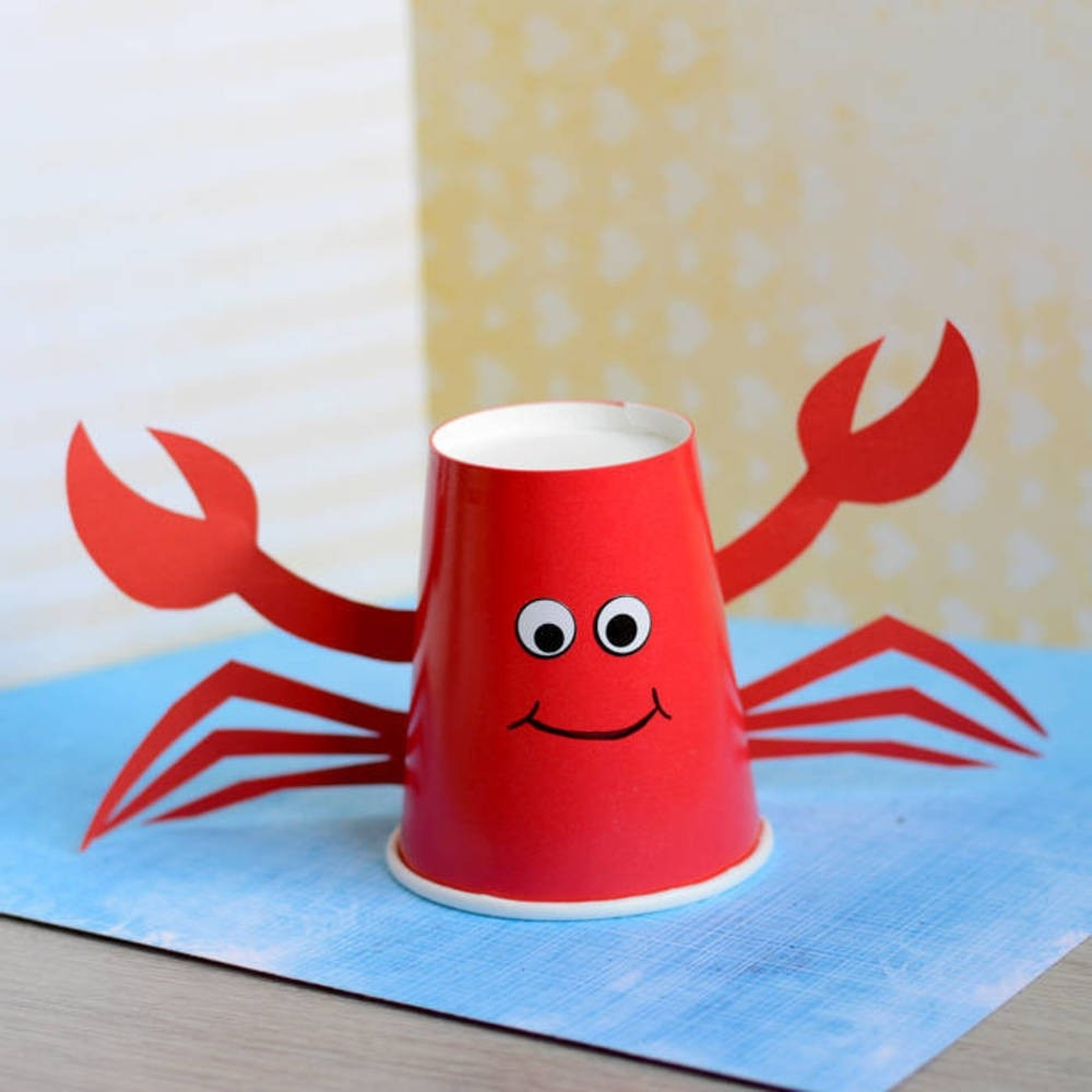 Paper Cup Crab Craft For Kids | Blitsy inside Crafts For Kids With Paper Cups 27069