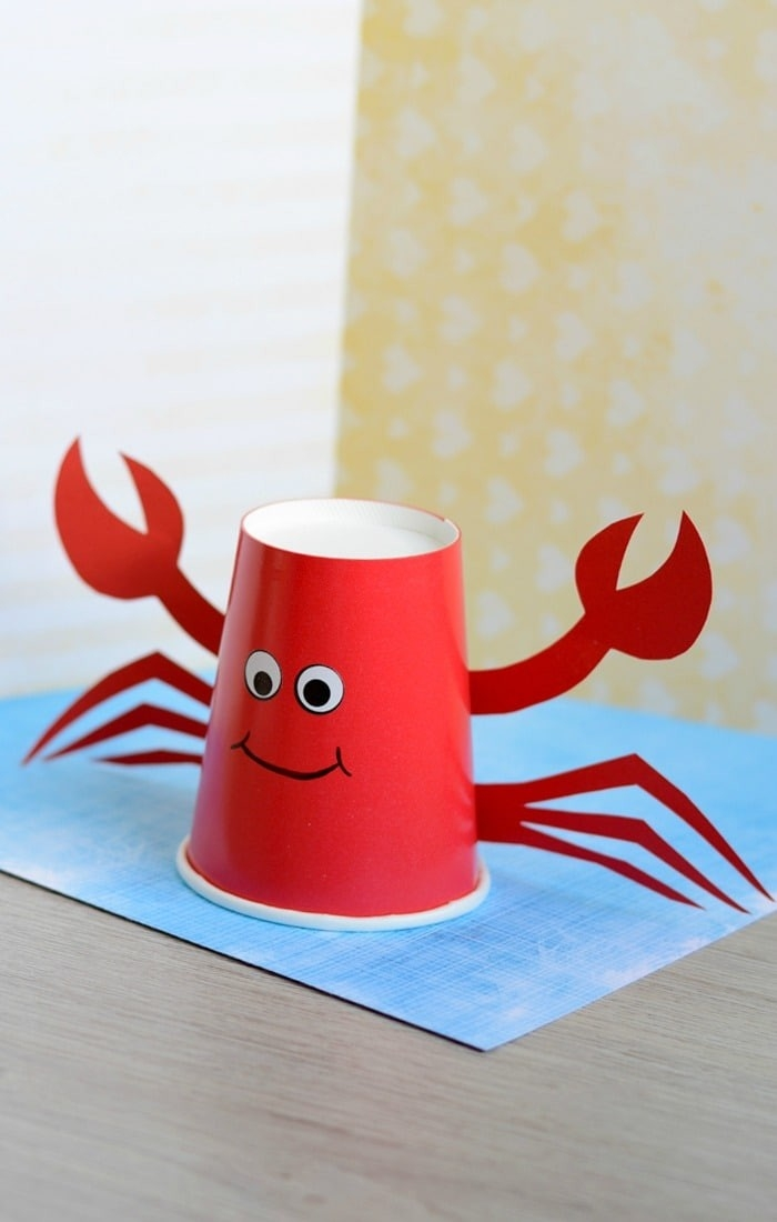 Paper Cup Crab Craft For Kids - Easy Peasy And Fun intended for Crafts For Kids With Paper Cups 27069