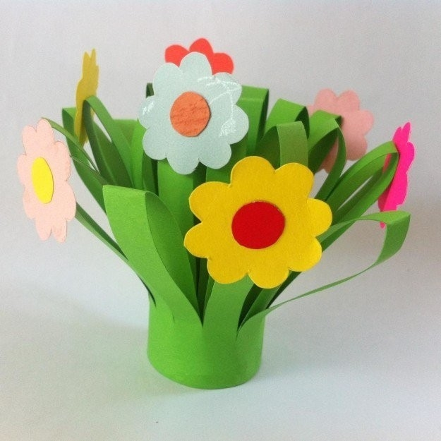 Paper Flower Craft Construction Paper Flowers Ideas Diy Projects with regard to Construction Paper Flowers 28616