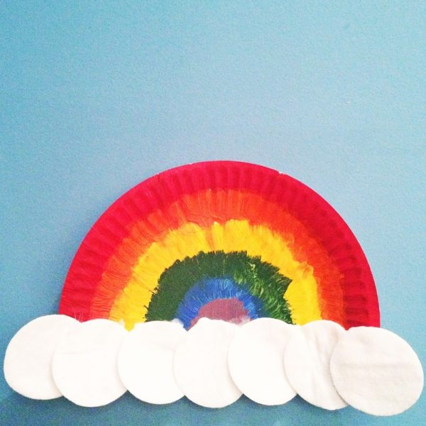 Paper Plate Rainbow My Kid Craft For Art And Crafts Ideas For Kids