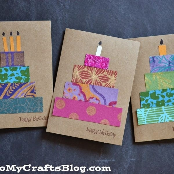 Paper Scrap Birthday Cards {Craft Idea} #stickyu With Regard To for Paper Craft Ideas For Birthday 28945