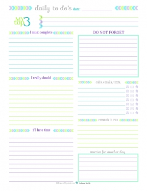 Personal Planner - Free Printables in Free Printable To Do List Planner 25503