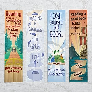 Personalized Book Lover Paper Bookmarks Set - Reading Quotes regarding Bookmarks With Quotes About Reading 25893