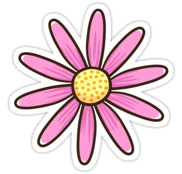 "Pink Flower"" Stickers By Mhea 