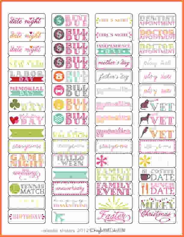 Planner Stickers Template.calendar Stickers 1 Preview - Sales regarding Planner Stickers Template 28441