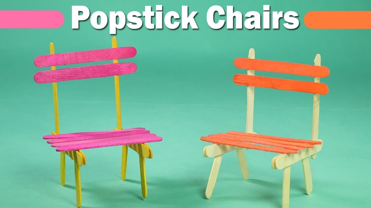 Popsicle Stick Crafts For Kids - Easy Icecream Sticks Chair - Youtube throughout Easy Crafts For Kids With Popsicle Sticks 27039