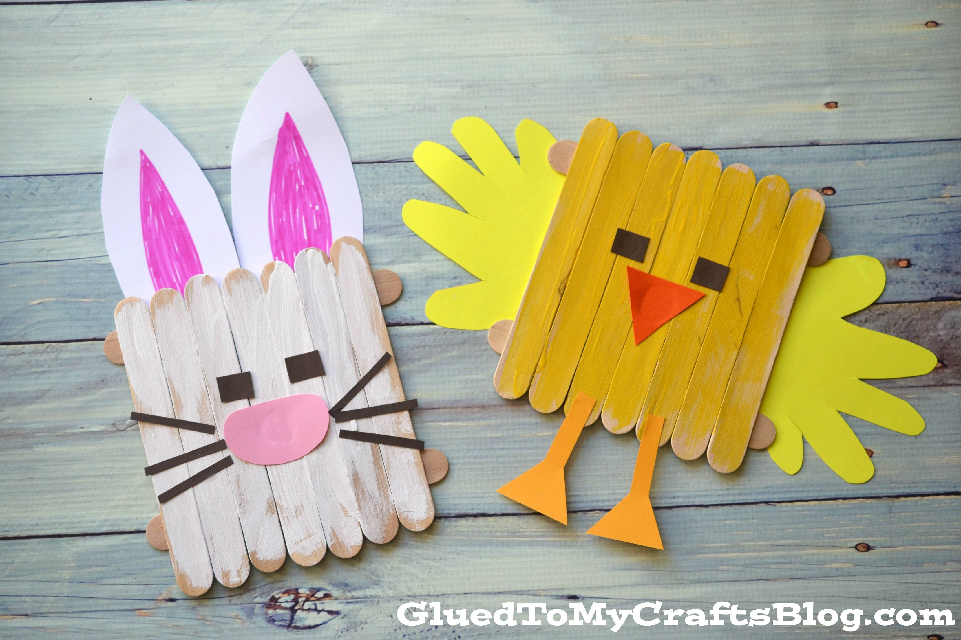 Popsicle Stick Easter Friends {Kid Craft} with Easy Crafts For Kids With Popsicle Sticks 27039