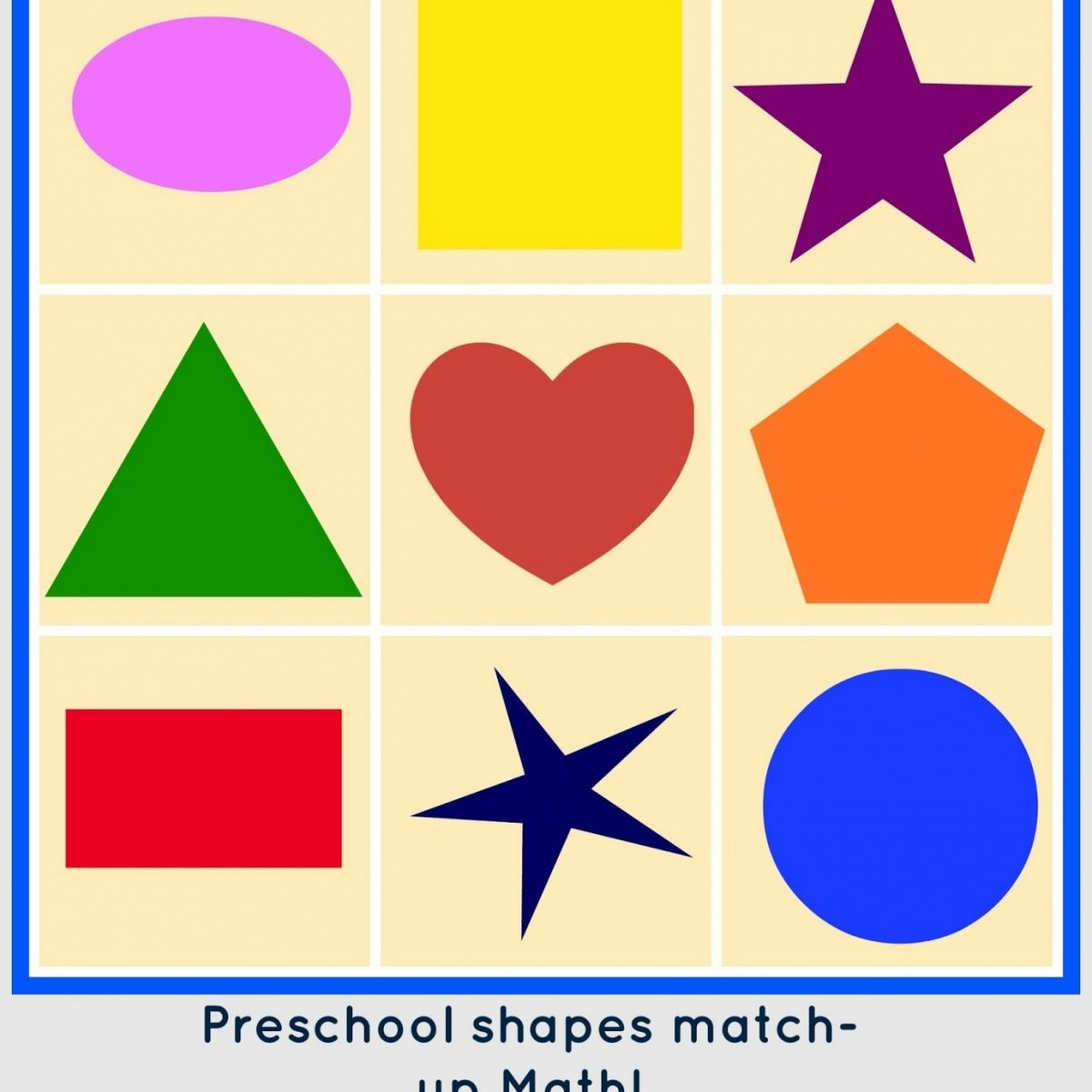 Preschool Shapes Math Match Up - Free Printable And Tutorial intended for Preschool Shapes Clip Art