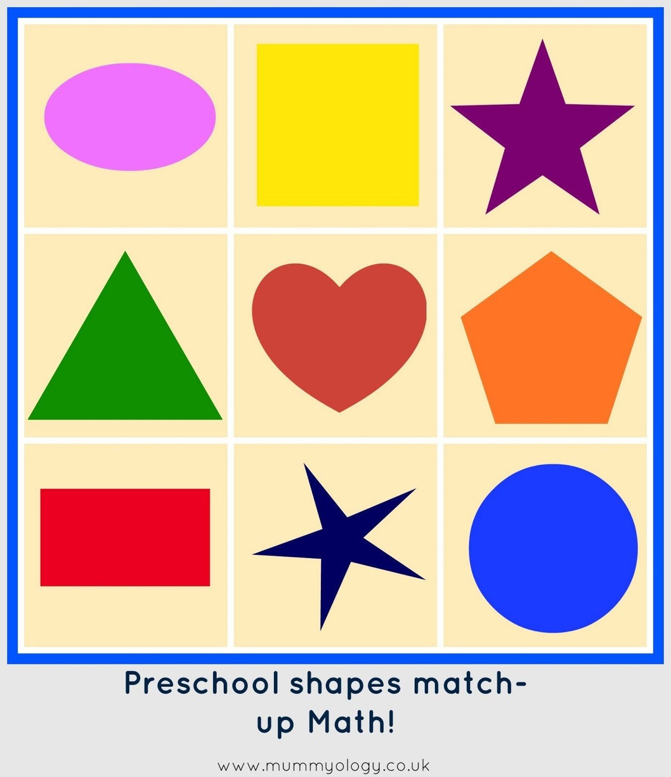 Preschool Shapes Math Match Up - Free Printable And Tutorial intended for Preschool Shapes Clip Art 25733