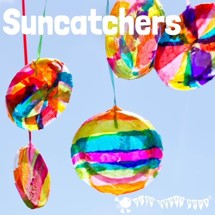 Pretty Round Suncatcher Craft - Kids Craft Room intended for Easy Tissue Paper Crafts For Kids 27490