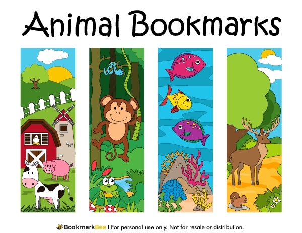 Printable Animal Bookmarks inside Cool Animal Bookmarks To Print 26644